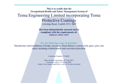 4. OHSAS 18001:2015 - Coating, Projects and Maintainance